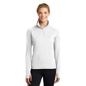 Sport-Tek® Ladies' Sport-Wick® Stretch 1/2-Zip Pullover Sweatshirt