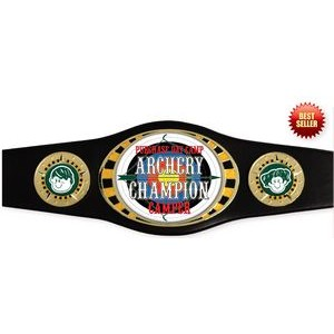 Express Vibraprint™ Bright Gold Oval Champion Award Belt