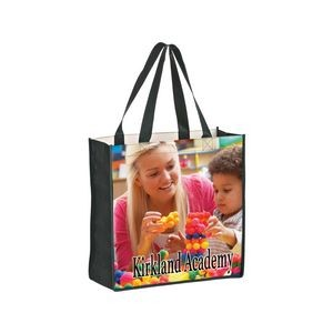 "Full Coverage OPP Laminated Non-Woven Tote Bag w/ Full Color (13""x5""x13"") - Sublimated"