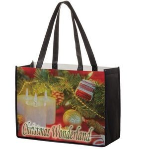 "Full Coverage PET Non-Woven Tote Bag w/ Full Color (16""x6""x12"") - Sublimated"