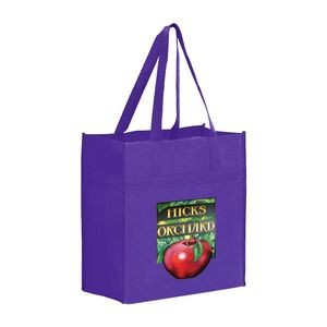 "Heavy Duty Non-Woven Grocery Tote Bag w/ Insert and Full Color (13""x7""x14"") - Color Evolution"