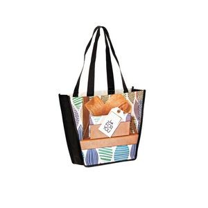 "Full Coverage PET Non-Woven Trapezoid Tote Bag w/ Full Color (12""x4""x10"") - Sublimated"