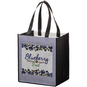 "Full Coverage PET Non-Woven Grocery Bag w/ Full Color (13""x10""x15"") - Sublimated"