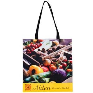 "Full Coverage PET Non-Woven Tote Bag w/Full Color (15""x16"") - Sublimated"