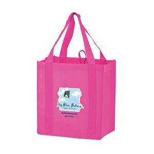 "Heavy Duty Non-Woven Grocery Tote Bag w/ Insert and Full Color (12""x8""x13"") - Color Evolution"