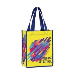 "Full Coverage OPP Laminated Non-Woven Tote Bag w/ Full Color (8""x4""x10"") - Sublimated"