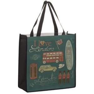 "Full Coverage PET Non-Woven Tote Bag w/ Full Color (13""x5""x13"") - Sublimated"