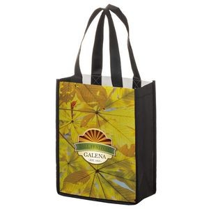 "Full Coverage PET Non-Woven Tote Bag w/ Full Color (8""x4""x10"") - Sublimated"
