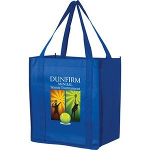 Recession Buster Non-Woven Grocery Tote Bag w/ Insert and Full Color (12
