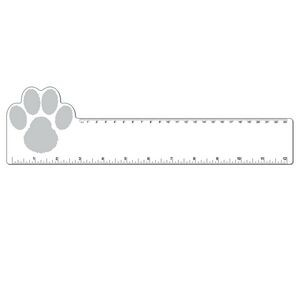 "12"" Plastic Rectangle Ruler w/ Corner Paw"