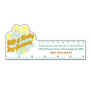 "6"" Plastic Rectangle Ruler w/ Corner Paw"