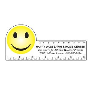 "6"" Plastic Rectangle Ruler w/ Corner Circle"