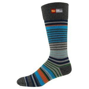 Fashion Plus Men's Striped Dress Socks