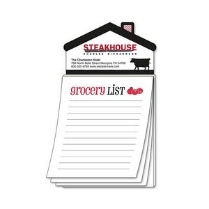 "Magna-Pad House Shape Magnet w/Stock ""Grocery List"" Notepad"