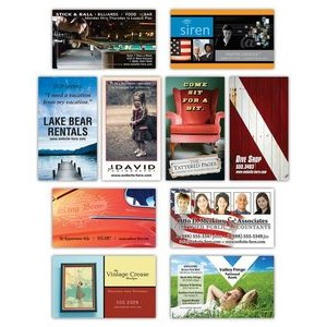 25 Mil Awareness Laminated Business Card Magnet w/Square Corners