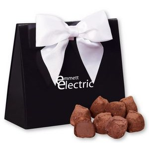 Cocoa Dusted Truffles in Black & White Triangular Gift Box