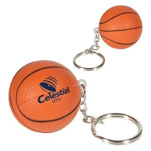 Basketball Stress Reliever Key Chain
