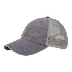Washed Pigment Dyed Twill Trucker Cap